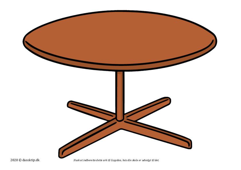 Kopiark/opgave:Dæk bord