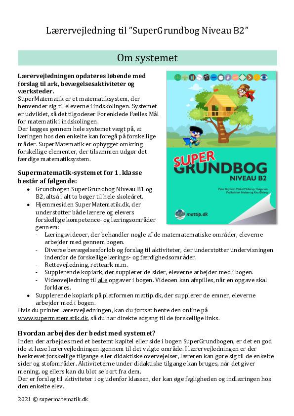 Kopiark/opgave:SGB2 Foreløbig Lærervejledning