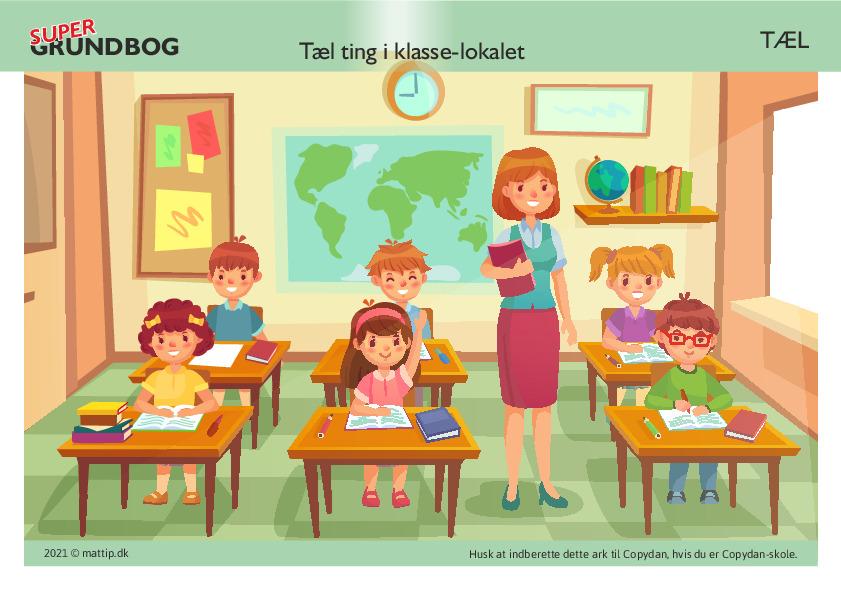 Kopiark/opgave:Tæl ting i klassen